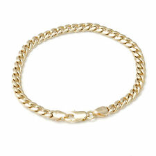 Solid Real 9kt 9ct 9k Curb Gold 5mm Bracelet 19cm 20cm 21cm 22cm MADE TO ORDER