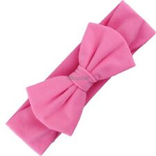 New Baby Solid Headband Bow Headband Bow Hair Band Girls Accessories OK01