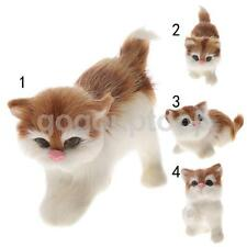 Artificial Animal Cute Cat Kitten Pet Craft Model Toy for Home Decoration Gift