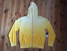 NEW JUICY COUTURE PINAPPLE OMBRE ZIP FRONT HOODIE SIZE L