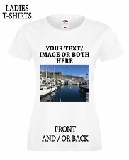 Personalised Photo , Text , Logo Custom Printed Ladies T-Shirt ,Stag Hen,Party