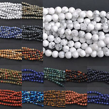 Natural Gemstone Bead Strand Round Spacer Loose  Wholesale 4mm 6mm 8mm 10mm 12mm
