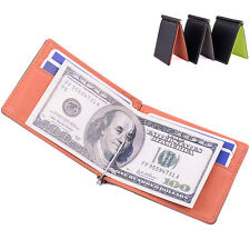Men Classical Short Purse Wallets Money Clip ID Credit Card Holder Bifold Wallet