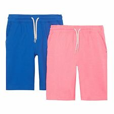 Bluezoo Kids Pack Of Two Boys' Pink And Navy Sweat Shorts From Debenhams