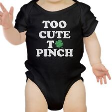 Too Cute To Pinch Cute Baby Onesie For St Patricks Day Funny Gifts