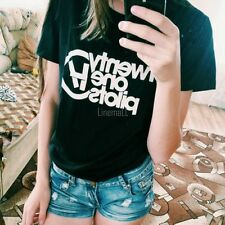 Women Casual Short Sleeve Letter Print T-Shirt Top Tees LM02