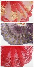 """7"""" * 1yard delicate embroidered flower tulle lace trim for DIY/sewing/craft"""