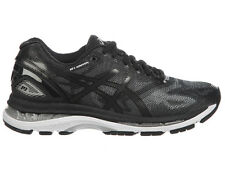 NEW WOMENS ASICS GEL-NIMBUS 19 RUNNING SHOES TRAINERS BLACK / ONIX / SILVER