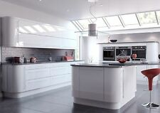 Complete Kitchen Units with High Gloss Vivo White Soft Closing Doors