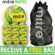 Mitre Impel Fluo Training Footballs Plus FREE Mesh Bag