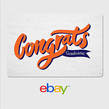 eBay Digital Gift Card - Graduation Congrats -  Fast Email Delivery