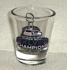 SEATTLE SEAHAWKS SUPER BOWL 48 XLVIII champions CHAMPS shot GLASS NY NJ