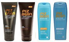 Piz Buin 1 Day Long Suntan Lotion or Aftersun 200ml each (Pack of 2) - choose