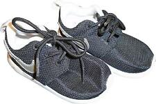 USED Boys Nike Roshe Run Black & Silver Trainers Size Infant 5.5 (L.H)