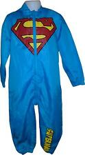 USED Boys Tesco Light Blue Superman Decal All In One Size 4-5 Years (T.H)