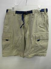 mens ABERCROMBIE & FITCH belted khaki CARGO shorts 32 33 Medium surf board Clean