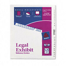 Avery Dennison Ave-11370 Premium Collated Legal Exhibit Dividers - 26