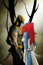 Wolverine No.9 Cover: Wolverine and Mystique Kissing Poster by Lee, Jae Wall