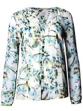 Marks & Spencer Per Una Green Floral Print Sheer Long Sleeve Blouse