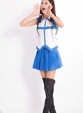 Lucy Fairy Tail Cosplay Costume Heartfilia Costume Coat Dress Girls Set Suits
