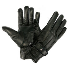 PERRINI Black Cowhide Genuine LEATHER Motorcycle Biker Winter Riding Gloves S-2X