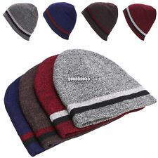 New Unisex Knitting Beanie Hat Two-sided Warmed Winter Casual Sports Cap EA9