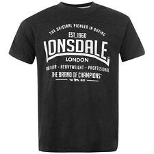Lonsdale Mens Boxing T-Shirt Charcoal New With Tags