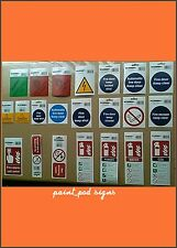 Self Adhesive Health & Safety Warning Signs Safety Fire Door Caution Protection