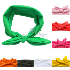 Cute Newborn Baby Toddler Girl Kid Bow Flower Rabbit Hair Band Turban Headband!