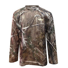 Mens Camouflage Jungle Camo Real Tree Forest Print Long Sleeved T Shirt Top