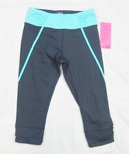 NWT Betsey Johnson Performance Capri Stretch Fit Cropped Workout Pants Gray XS-S