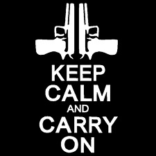 Keep Calm And Carry On Pistol Vinyl Decal Car Truck Window Sticker Gun Rights