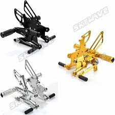 ADJUSTABLE Rear Sets Footrests Footpegs for Honda CBR 600 RR ABS 09-15 Rearsets