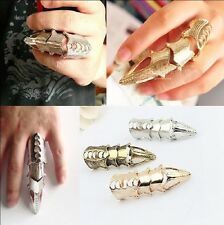 Full Finger Gothic Punk Armor Talon Claw Robot Metal Armoring Joint Knuckle Ring