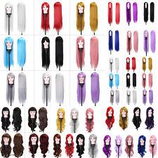 Women Long Curly Wavy Full Wig Heat Resistant Hair Cosplay Party 75/80/100CM MF