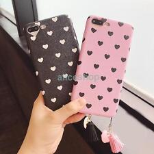 Cute Love Heart Candy Stars Tassels Soft Case Cover for iPhone 7 7 Plus 6S Plus