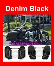 Denim Black Lower Vented Fairings Speaker Pod For Harley Touring 1983-2017