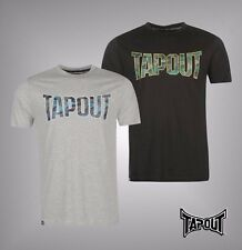 New Mens Branded Tapout Casual Large Camouflage Logo T Shirt Crew Top Size S-XXL
