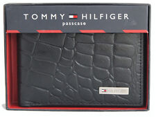 Tommy Hilfiger Brown/Black Leather Men's Wallet 703 FREE SHIPPING