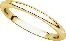 14K Yell. Gold, Comfort Fit Wedding Band 2MM sz 4-15