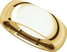 14K Yell. Gold, Comfort Fit Wedding Band 7MM sz 4-15