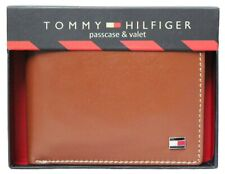 Tommy Hilfiger Black/Brown Leather Men's Wallet 707 FREE SHIPPING