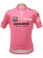 Santini Pink 2017 Giro Ditalia Leaders Kids Short Sleeved Cycling Jersey