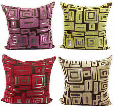 Large Set of 4 Chenille Scatter Cushions + Covers in 4 Lovely Colours Filled