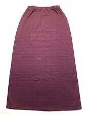 NEW Patagonia Long A-Line Skirt Cotton Blend Stretchy Burgundy Striped Women M