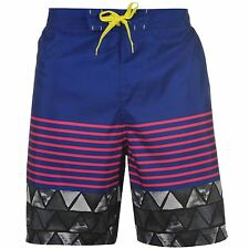 MENS HOT TUNA BLUE RED STRIPE LONG SWIMMING SWIM SURF SUMMER BEACH BOARD SHORTS