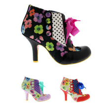 Ladies Irregular Choice Blair Elfglow Evening Ankle Boots Mid Heels All Sizes
