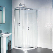 Quadrant Shower Enclosure 900 x 900mm ; 6mm Toughened Glass Easy Access Doors