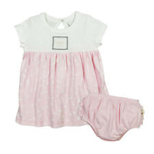 Burt's Bees Baby Pink Butterfly Printed Organic Dress with Diaper Cover
