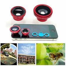 Magnetic 3 in1 Fish Eye fisheye Wide Angle Macro Lens Camera Kit for All Phones